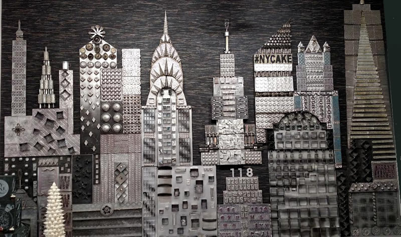 Permanent Skyline mural by Colette Peters