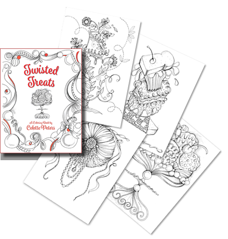 Twisted Treats Coloring Book by Colette Peters
